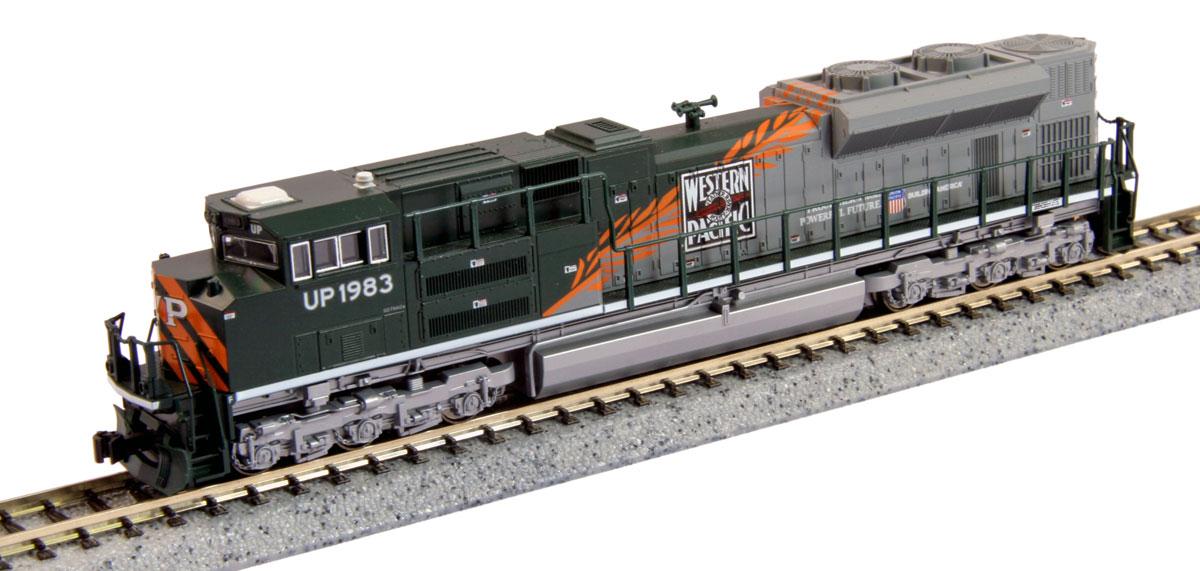 N Scale - Kato USA - 176-8410 - Locomotive, Diesel, EMD SD70 - Western Pacific - 1983