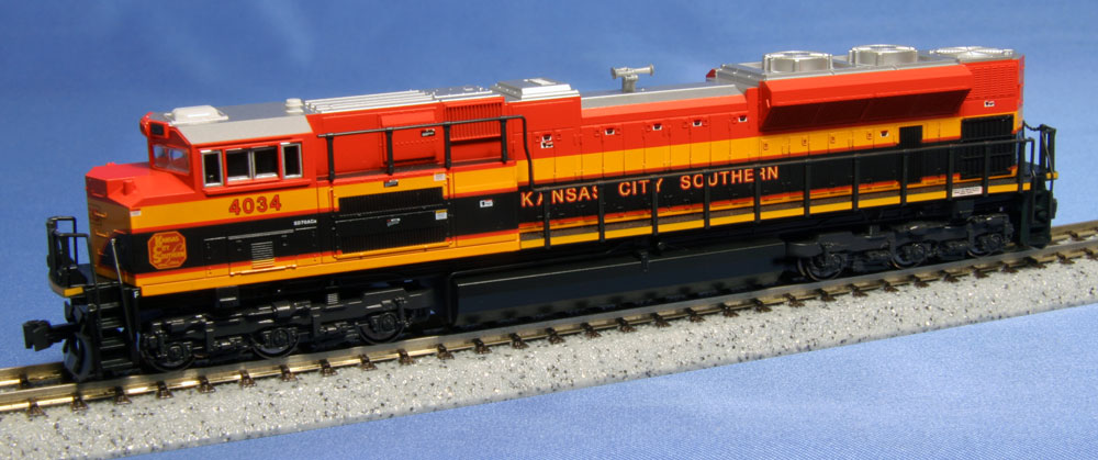 N Scale - Kato USA - 176-8431 - Locomotive, Diesel, EMD SD70 - Kansas City Southern - 4034