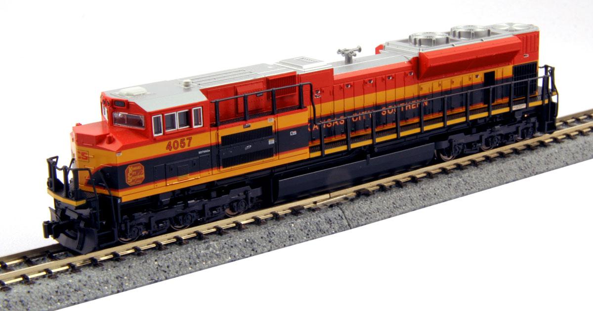 N Scale - Kato USA - 176-8432 - Locomotive, Diesel, EMD SD70 - Kansas City Southern - 4057