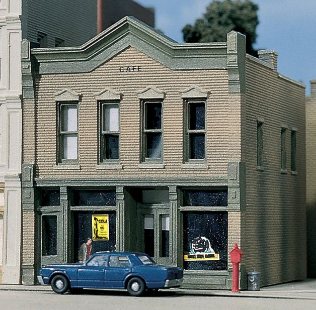 N Scale - Design Preservation Models - 51200 - 2 story brick structure - Undecorated