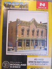N Scale - Design Preservation Models - 51400 - 2 story brick structure - Undecorated