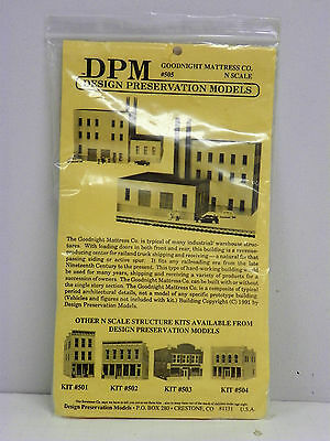 N Scale - Design Preservation Models - 50500 - 3 story brick structure - Undecorated