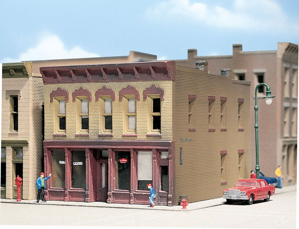 N Scale - Design Preservation Models - 50200 - 2 story brick structure - Undecorated