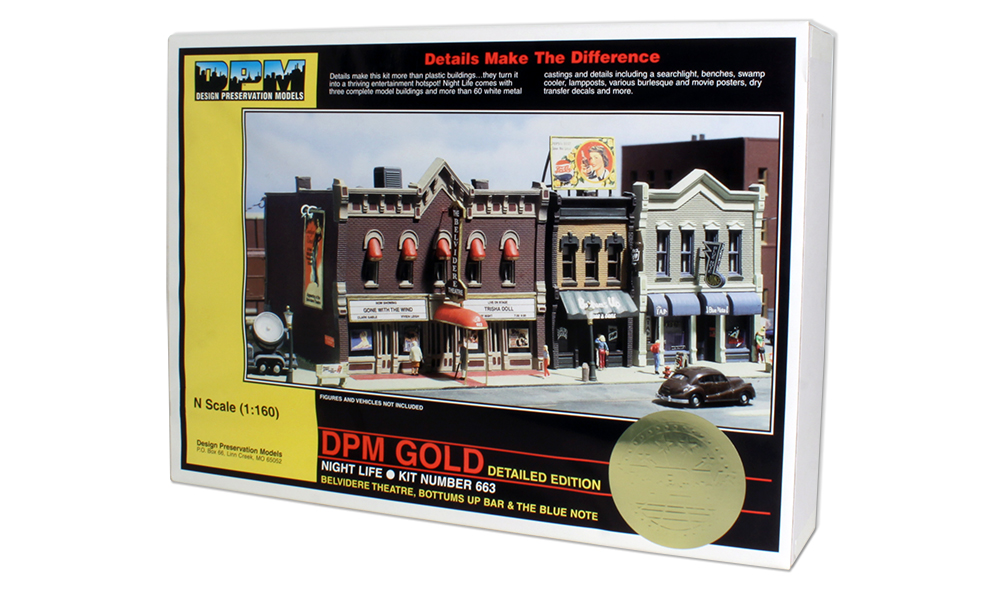 N Scale - Design Preservation Models - 66300 - Group of retail shops - Undecorated