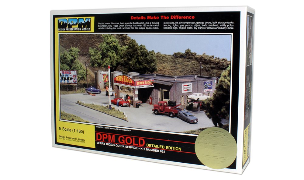 N Scale - Design Preservation Models - 66200 - Group of retail shops - Undecorated