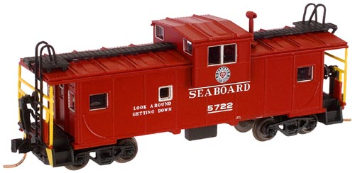 N Scale - Atlas - 30677 - Caboose, Cupola, Steel Extended Vision - Seaboard Air Line - 5722
