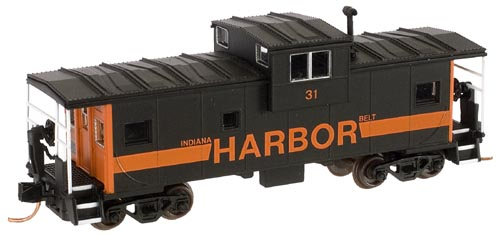 N Scale - Atlas - 30687 - Caboose, Cupola, Steel Extended Vision - Indiana Harbor Belt - 31