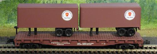 N Scale - Atlas - 37512 - Flatcar, 50 Foot - Pennsylvania - 475451