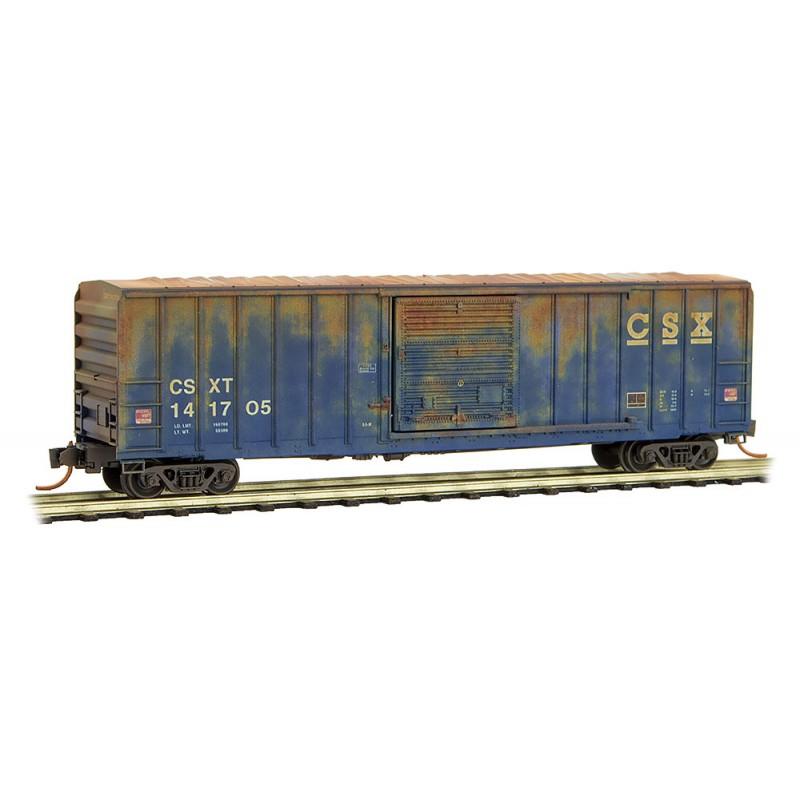 N Scale - Micro-Trains - 025 44 550 - Boxcar, 50 Foot, FMC, 5077 - CSX Transportation - 141705