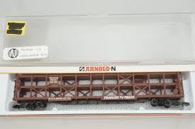 N Scale - Arnold - 0409T - Autorack, Open, F89F Tri-Level - Southern Pacific - 50156