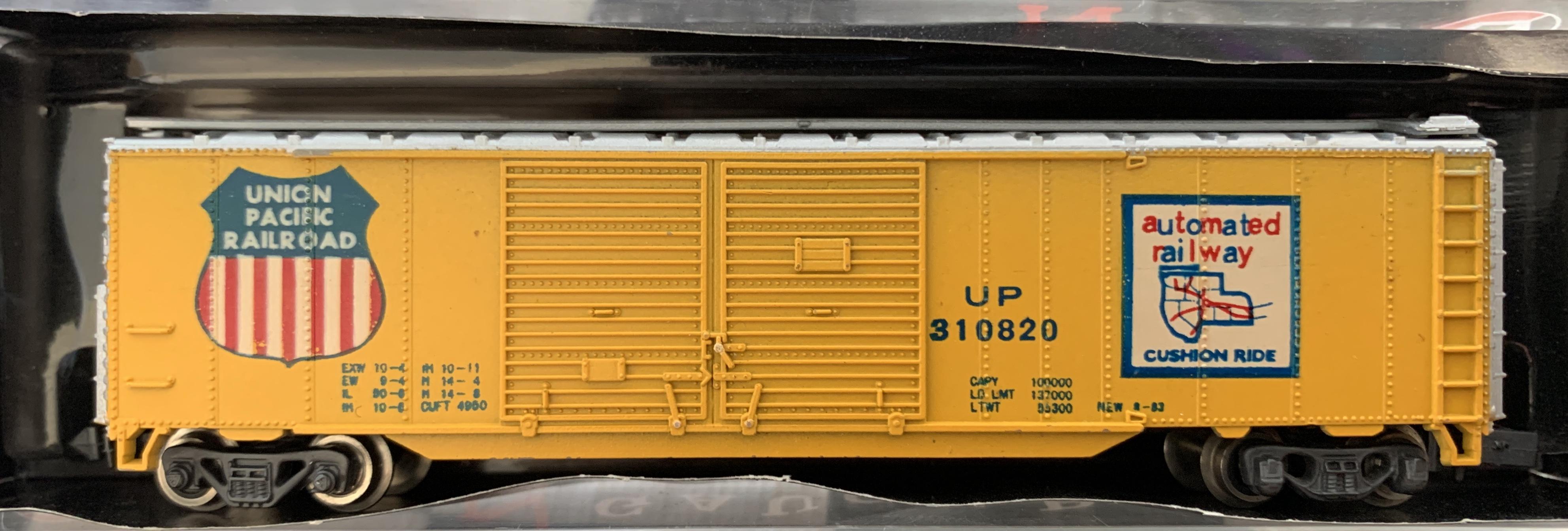 N Scale - MRC - 7030 - Boxcar, 50 Foot, Steel, Double Door - Union Pacific - 310820