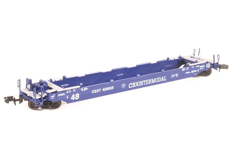 N Scale - Roundhouse - 8475 - Container Car, Single Well, Gunderson Husky Stack 48 - CSX Transportation - 620501