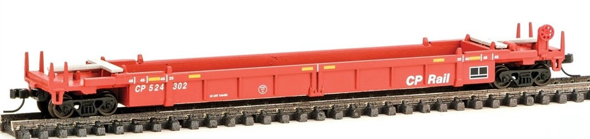 N Scale - Walthers - 929-8002 - Container Car, Single Well, Thrall Lo-Pac 48 - Canadian Pacific - 524302