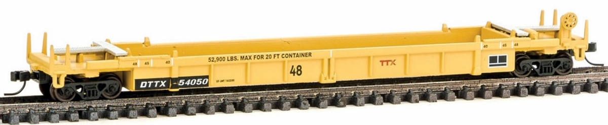 N Scale - Walthers - 929-8007 - Container Car, Single Well, Thrall Lo-Pac 48 - Trailer Train - 54050