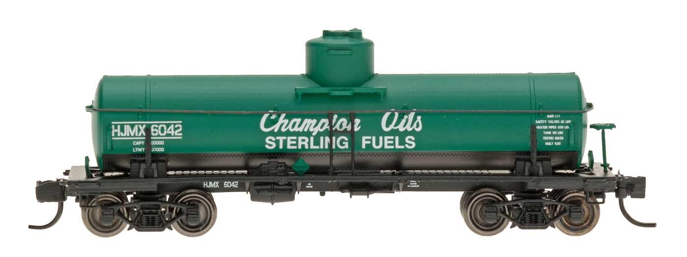 N Scale - InterMountain - 66329-01 - Tank Car, Single Dome, ACF 8,000 Gallon - Champion Oils - 6003
