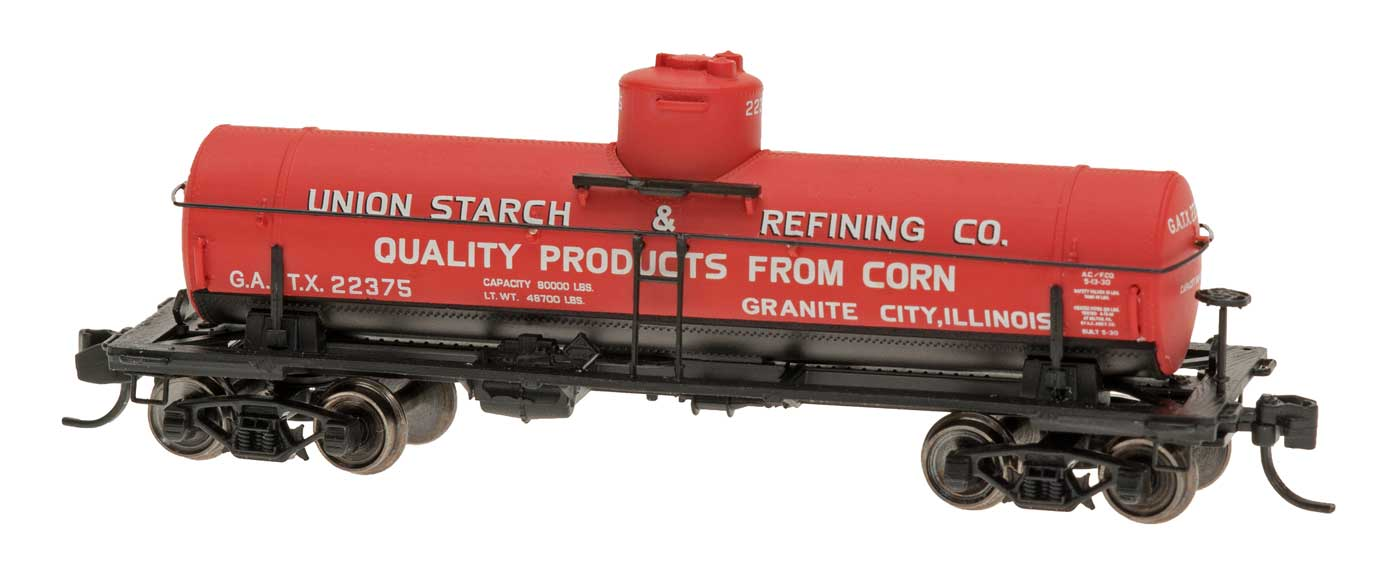 N Scale - InterMountain - 66331-05 - Tank Car, Single Dome, ACF 8,000 Gallon - Union Starch Refining - 22370