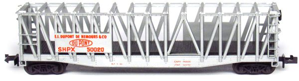 N Scale - Aurora Postage Stamp - 4841-355 - Container Car, Ortner - Dupont - 50020