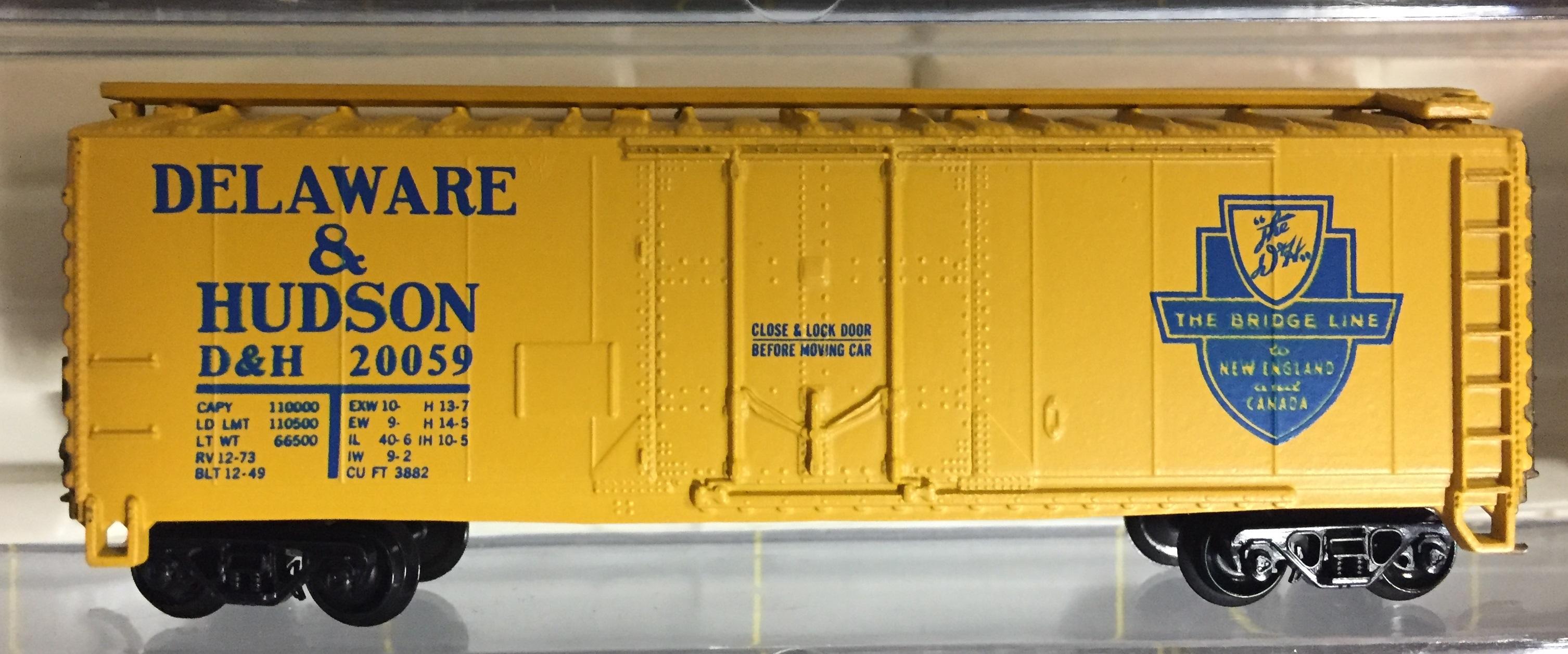 N Scale - Atlas - 3310 - Boxcar, 40 Foot, Steel Plug Door - Delaware & Hudson - 20059