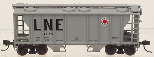 N Scale - Atlas - 31621 - Covered Hopper, 2-Bay, PS2 - Lehigh & New England - 18123