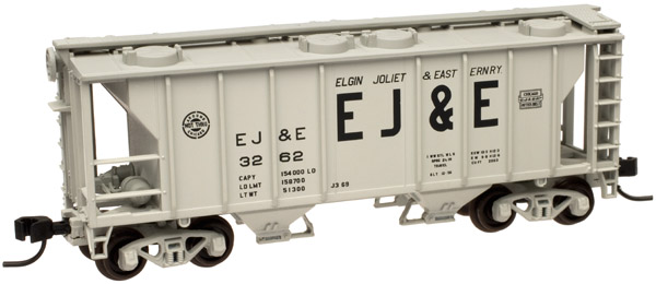 N Scale - Atlas - 50 000 895 - Covered Hopper, 2-Bay, PS2 - Elgin Joliet & Eastern - 3262