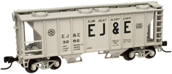 N Scale - Atlas - 50 000 896 - Covered Hopper, 2-Bay, PS2 - Elgin Joliet & Eastern - 3273