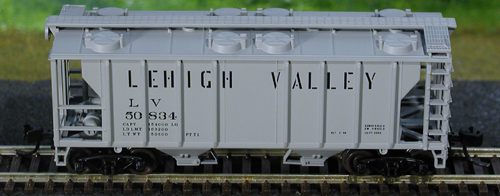 N Scale - Atlas - 31823 - Covered Hopper, 2-Bay, PS2 - Lehigh Valley - 50772