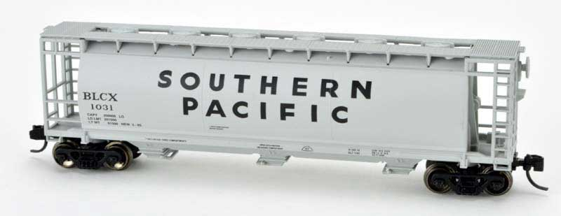 N Scale - Delaware Valley - 3071 - Covered Hopper, 3-Bay, Cylindrical - Southern Pacific - 1001