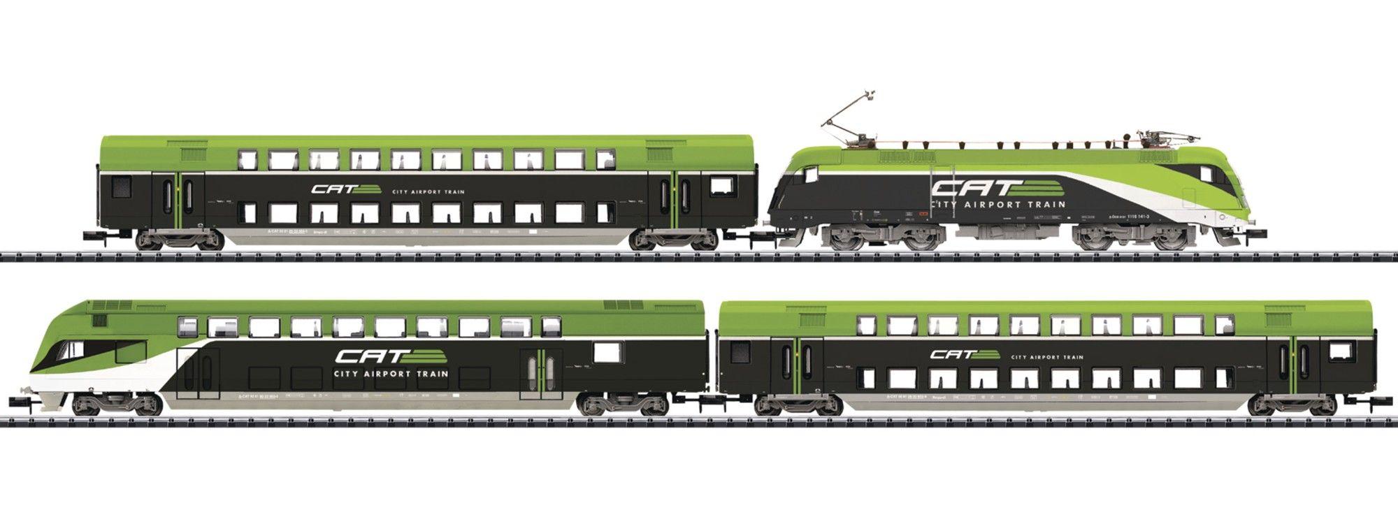 N Scale - Minitrix - 11622 - 4-Unit City Airport Train - ÖBB (Austrian Federal Railways) - 1116 141-3