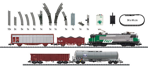 N Scale - Minitrix - 11484 - 5-Unit Freight Set with BB22200 - SNCF