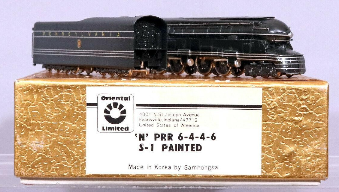 N Scale - Oriental Limited - PRR S-1 Painted - Locomotive, Steam, 6-4-4-6  S1 - Pennsylvania - 6100