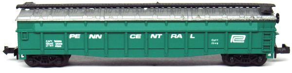 N Scale - Aurora Postage Stamp - 4842-225 - Gondola, 50 Foot, Steel - Penn Central - 2540