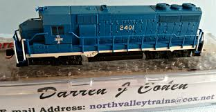 N Scale - Darren Cohen - 4601 - Locomotive, Diesel, EMD GP35 - Boston & Maine - 2401