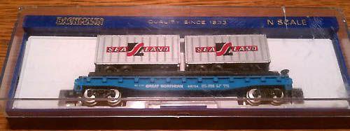 N Scale - Bachmann - 5544 - Flatcar, 50 Foot - Great Northern