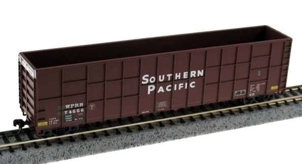 N Scale - Deluxe Innovations - 161001 - Gondola, Woodchip - Southern Pacific - 74556