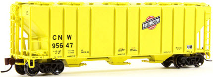 N Scale - BLMA - 11070 - Covered Hopper, 3-Bay, PS-2CD 4000 - Chicago & North Western - 95641