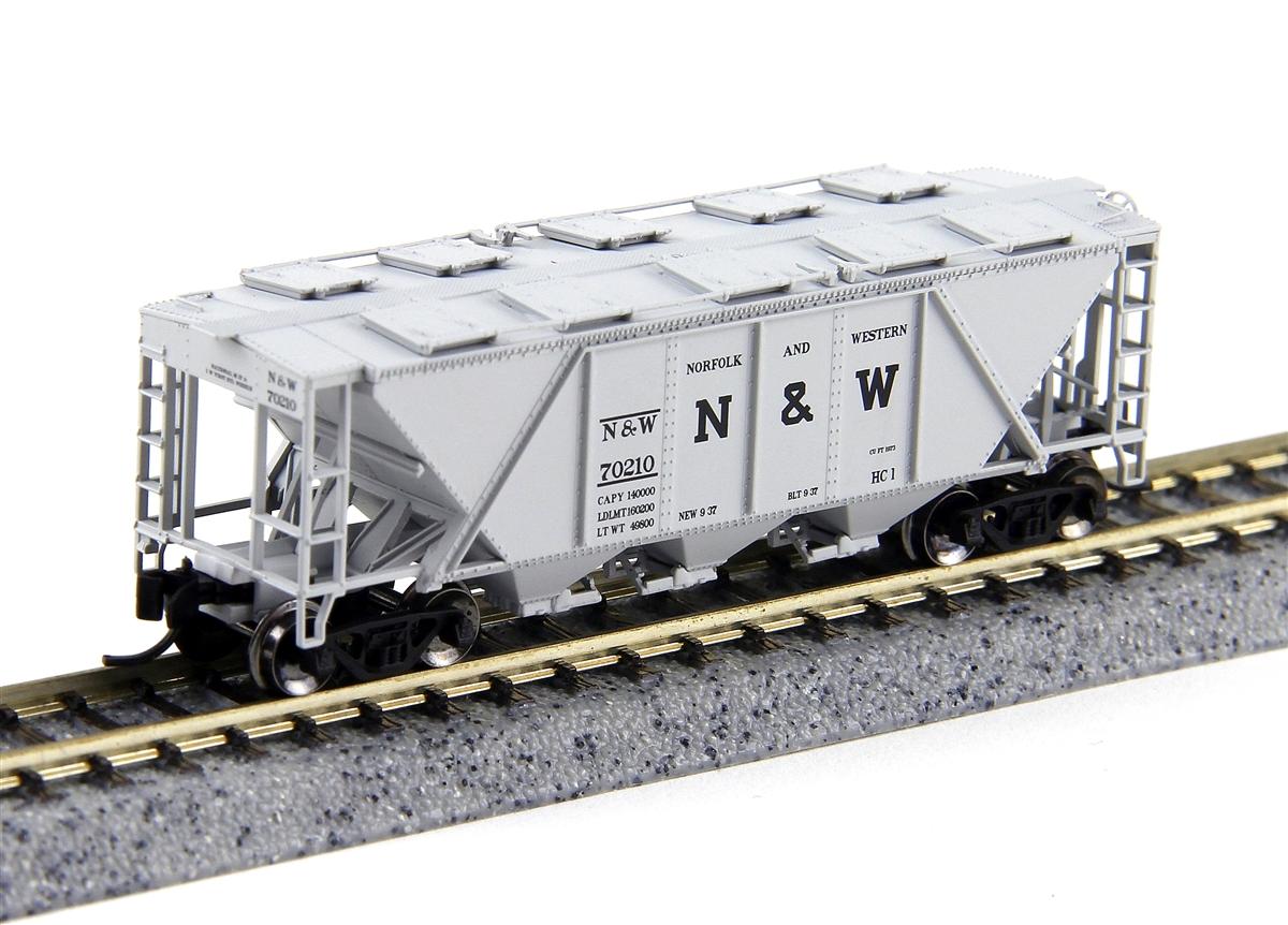 N Scale - Fox Valley - 90518 - Covered Hopper, 3-Bay, H30 - Norfolk & Western - 70217
