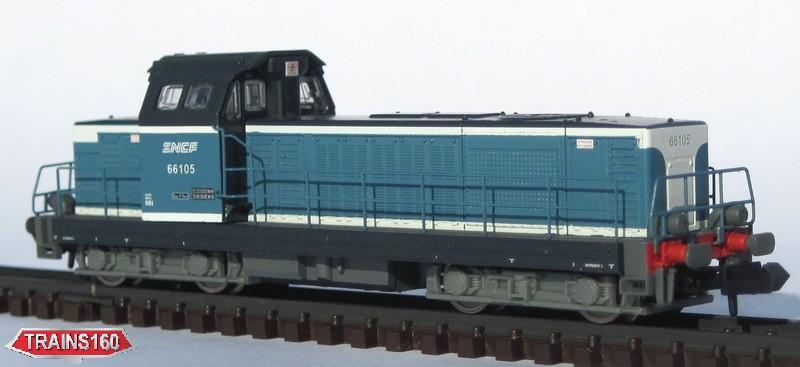 N Scale - Piko - 94105 - Locomotive, Diesel, SNCF BB 66000 - SNCF - 66105