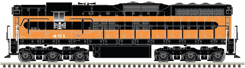 N Scale - Atlas - 40 003 665 - Locomotive, Diesel, EMD SD7 - Bessemer & Lake Erie - 453