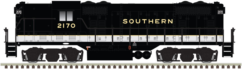 N Scale - Atlas - 40 003 105 - Locomotive, Diesel, EMD GP7 - Southern - 2070
