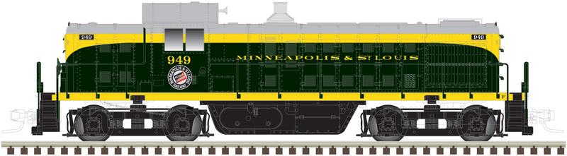 N Scale - Atlas - 40 003 091 - Locomotive, Diesel, Alco RS-1 - Minneapolis and St. Louis - 1149