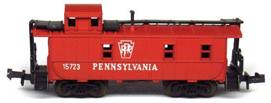 N Scale - Aurora Postage Stamp - 4887-230 - Caboose, Cupola, Steel - Pennsylvania - 15723