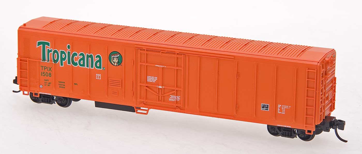 N Scale - Red Caboose - RM-21006-05 - Reefer, 57 Foot, Mechanical, PC&F R-70-20 - Tropicana - 1226