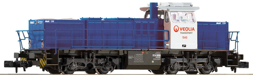 N Scale - Piko - 94183 - Locomotive, Diesel, Vossloh G1206 - Veolia Transport - 1545