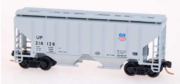 N Scale - Red Caboose - RM-25002-29 - Covered Hopper, 2-Bay, 3000 c.f. - Union Pacific - 218126