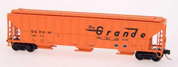 N Scale - Red Caboose - RM-25210-26 - Covered Hopper, 3-Bay, FMC 4700 - Rio Grande - 15616