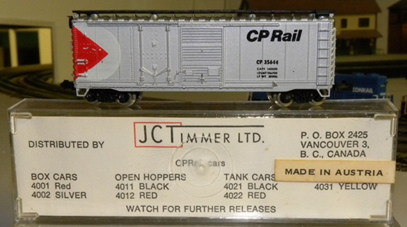 N Scale - JC Timmer - 3226 - Boxcar, 40 Foot, Steel Combo Door - Canadian Pacific - 35444