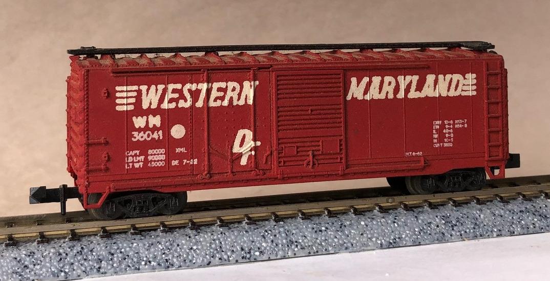 N Scale - AHM - 4322 - Boxcar, 40 Foot, Steel Combo Door - Western Maryland - 36041