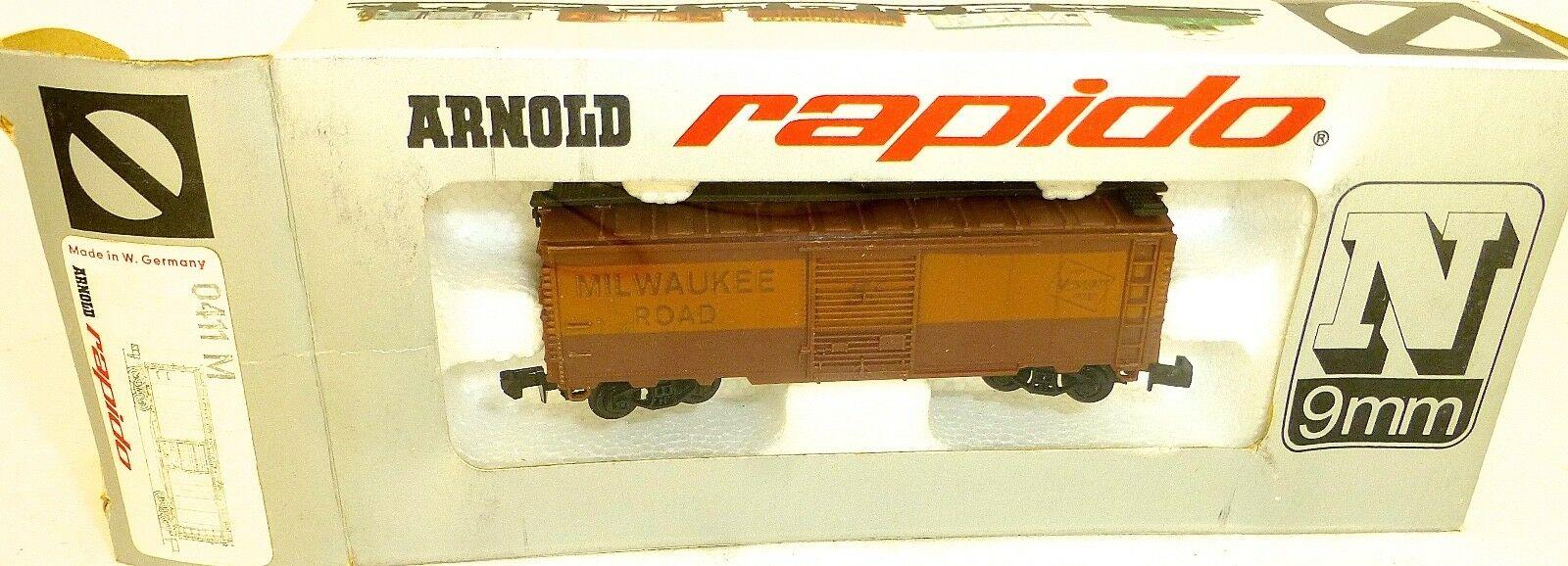 N Scale - Arnold - 0411M - Boxcar, 40 Foot, AAR 1937 - Milwaukee Road