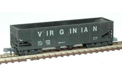 N Scale - Arnold - 0401 - Open Hopper, 2-Bay, 100 Ton - Virginian