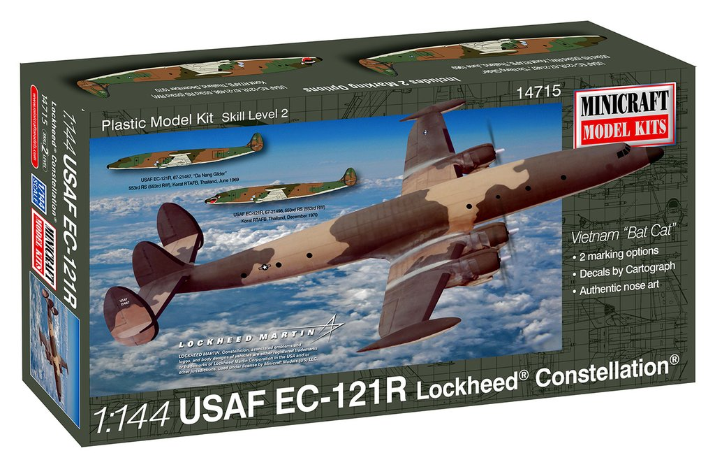 N Scale - Minicraft - 14715 - Vehicle, Aircraft - United States Air Force - EC-121R